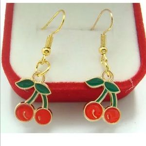 cherry earrings
